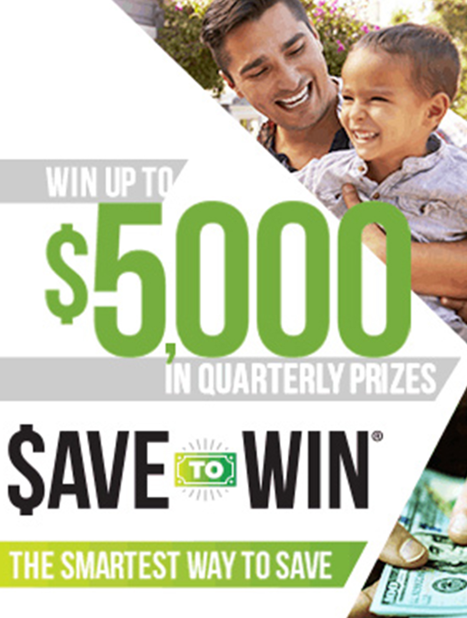 Save to Win Website Ad
